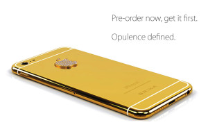 iPhone6 en or avec des diamants