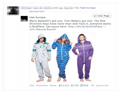Exemple de publicité sponsorisée.