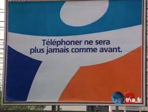 Le logo de Bouygues Telecom, dès 1996 (© France 2 / INA)