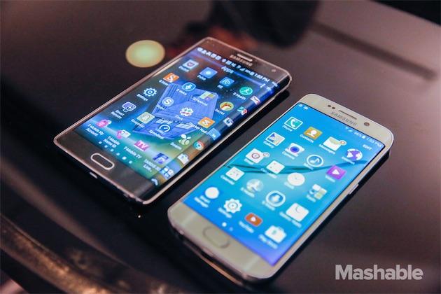 Galaxy Note Edge à gauche et S6 Edge à droite avec un écran moins débordant et donc moins de fonctionnalités